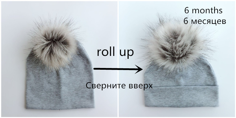 81fa06cc345 children s infant fashion spring autumn baby colorful raccoon Faux Fur pom  pom fur hat cap beanie for girls and boy kids newborn-in Hats   Caps from  Mother ...