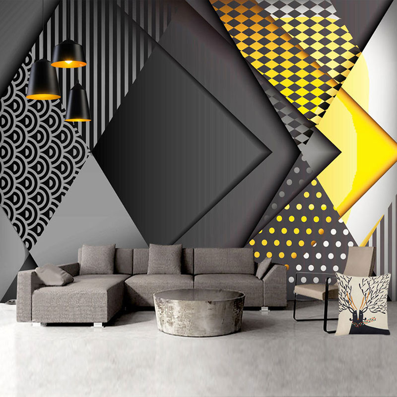 Custom Photo Wallpaper Modern 3D Personality Geometry Murals Living Room Bedroom Background Wall Paper For Walls Papel De Parede
