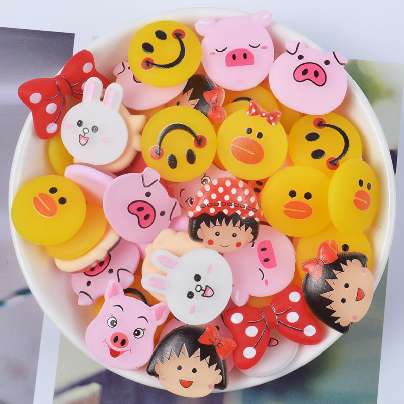 Slime charms Cute Slime Supplies Toy Plastic Cartoon Charms Accessories Kit Filler For Clear Slime Clay 5