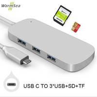 Thunderbolt 3 USB 3 1 Type C Adapter HUB Dongle Dock Station Combo Converter With 3