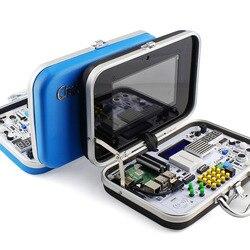 Elecrow Crowpi Raspberry Pi 4B Kit Avanzato ALL-IN-ONE 7 pollici Touch Screen Per Bambini Disegno Del Computer FAI DA TE educativo di Apprendimento Kit
