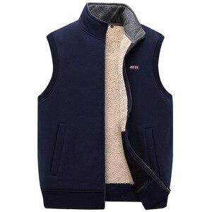 Image 4 - ICPANS Winter Thick Cotton Vests Mens Loose Thicken Fleece Vest Waistcoat  Mens Outerwear Men Coats Plus Size XXXXXL