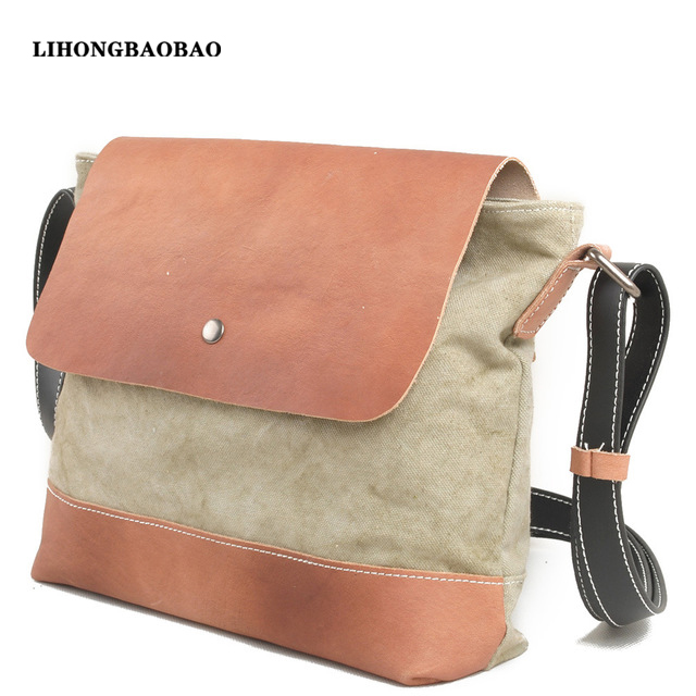 Online Shop New Spring & Summer Canvas Messenger Bag Women Retro ...