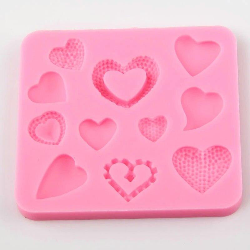 AMW Mini Srdce Silikonové Formy Fondant Cake Dekorační nástroje Ručně vyráběné mýdlo Čokoláda Polymer Clay Forma