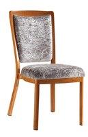 Upholstered Woodgrain Aluminum Hotel Restaurant Chair LQ L9102