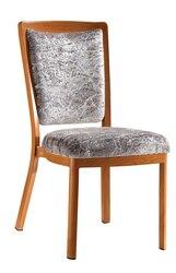 Tapicerowane woodgrain aluminium hotel restauracja krzesło LQ-L9102