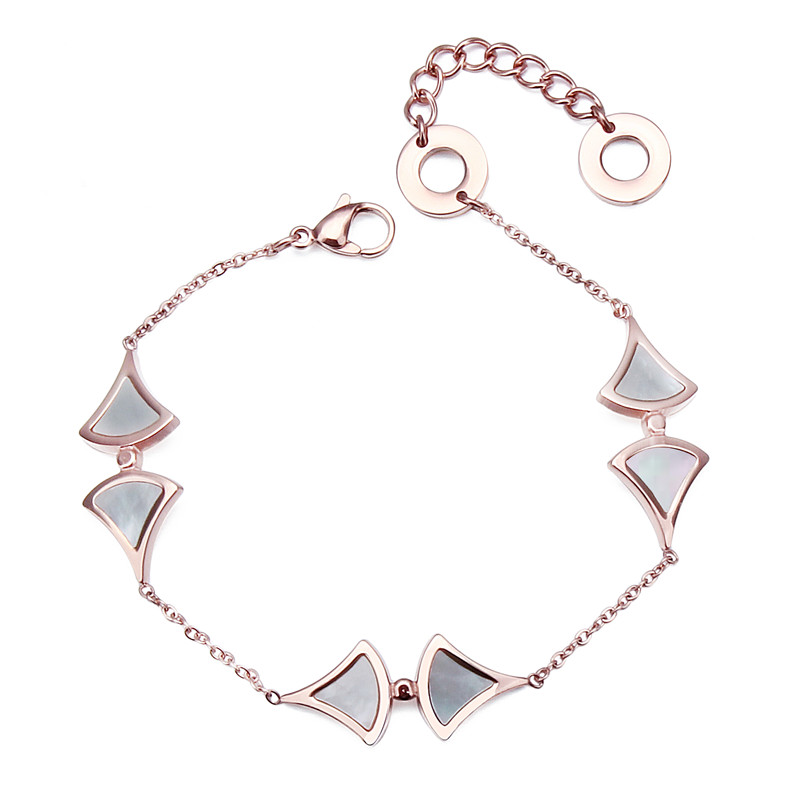 HAWSON Bracelet Women with Mother Pearl Jewelry Charms Rose Gold Ladies Chain Bracelet Best Gift for Girlfriend