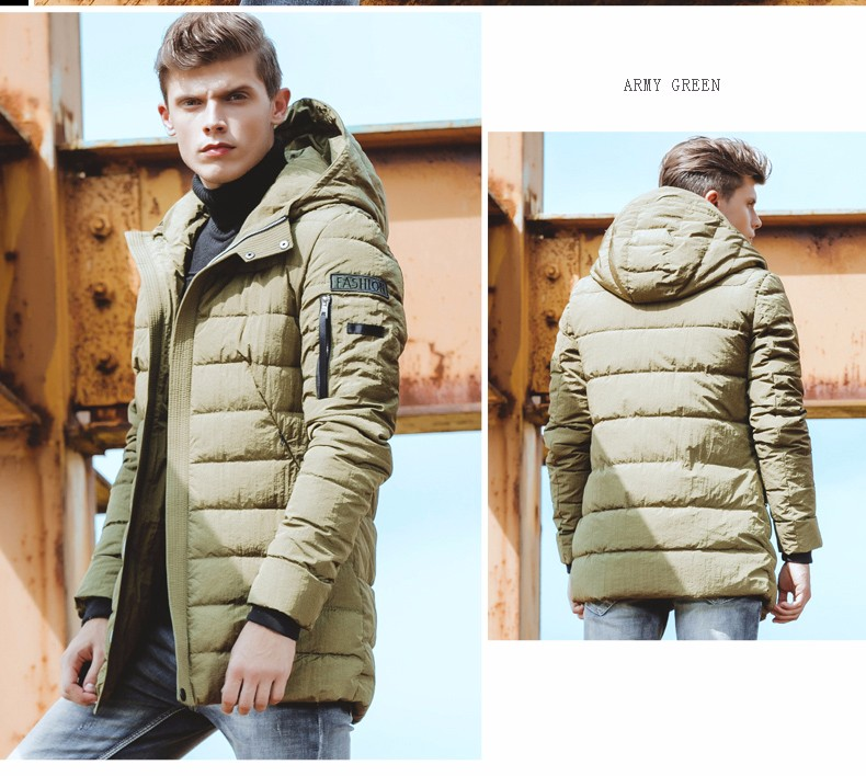 ФОТО   Brand 2017 new Men Cotton Coat Parkas Winter Jackets Coats Long Regular Men's Clothing Winter Overcoats M-4XL Size