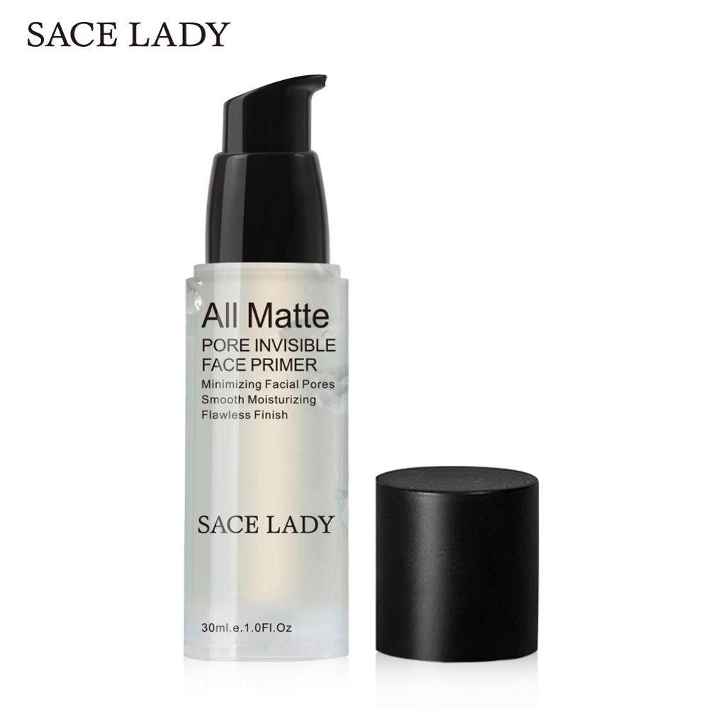 SACE LADY Face Base Primer 30ml Make Up Natural Matte Pore Invisible Prolong Makeup Facial Foundation Gel Oil-control Cosmetic