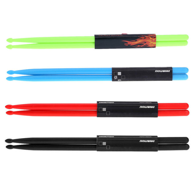 High quality Pair of 5A Drumsticks Stick Nylon for Drum Set Lightweight Professional