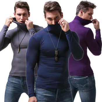 Koszulka z długim rękawem męska koszulka z golfem modalna koszulka mocno elastyczna koszulka miękka i oddychająca tanie i dobre opinie ANJOYFREEDOM Pełna CN (pochodzenie) tops Tees Regular Suknem Modalne Na co dzień Stałe