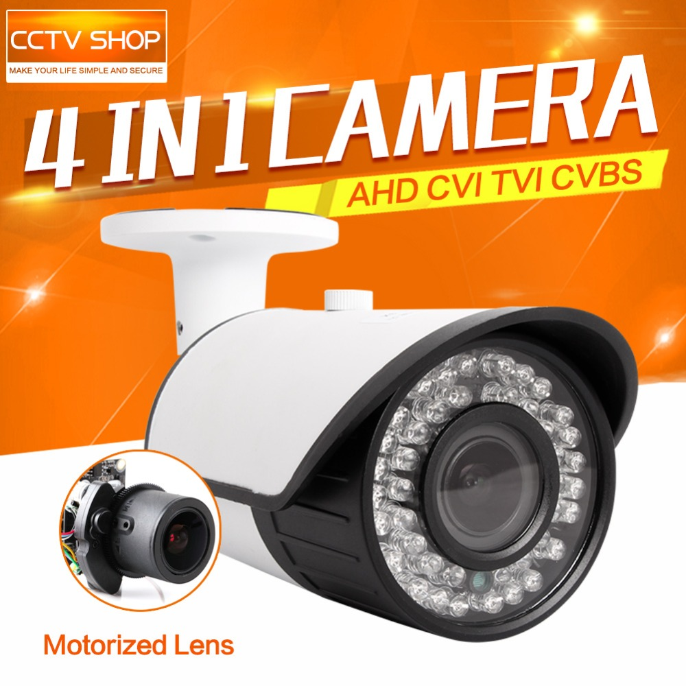 BOAVISION 1080P AHD Camera Bullet Motorized Zoom 2.8-12mm Lens 2MP 4 IN 1 AHD/CVI/TVI/CVBS Camera CCTV Security Outdoor OSD Meun