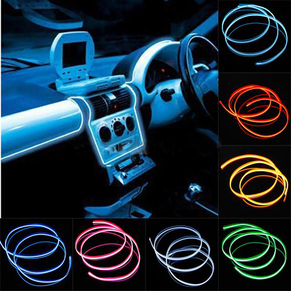 1Meter Flexible Car with sewing edge EL Wire Neon Light Dance Festival Car Decorate Colorful (not include drive controller)