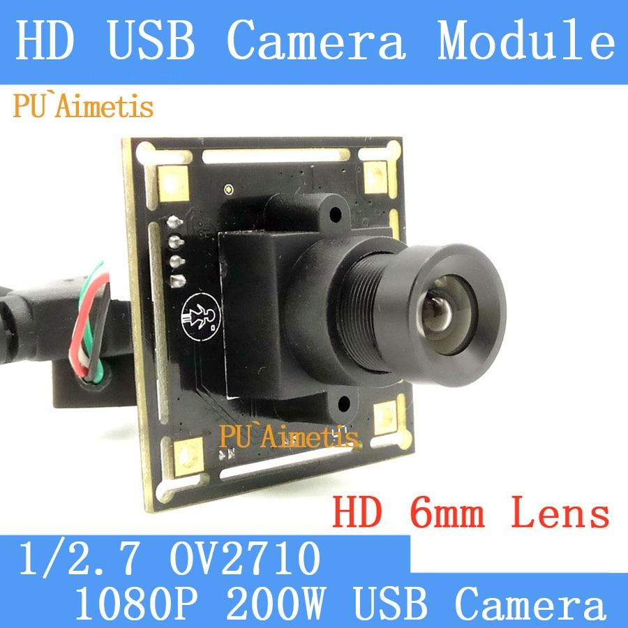 PU Aimetis Industry Surveillance Camera 1080P Full HD MJPEG 30fps High OV2710 Mini CCTV Linux UVC