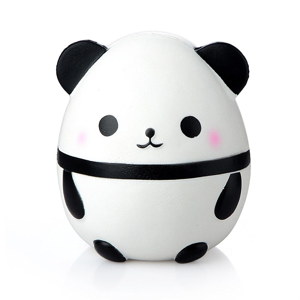 Großhandel 14 cm Jumbo Kawaii Panda Ei Squishy Spielzeug Puppe Auto Dekoration Langsam Steigenden Kinder Weichen Squeeze Stretchy Squeeze Gag witz