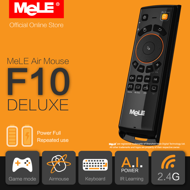 MeLE F10 Deluxe Wireless Keyboard Fly Air Mouse Remote Control 2.4GHz IR Learning for Android TV Box Windows Mini PC