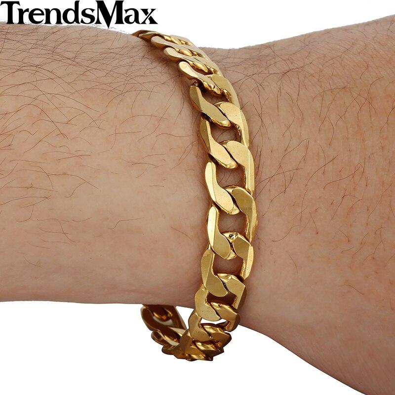 aliexpresscom buy trendsmax 8mm gold filled bracelet