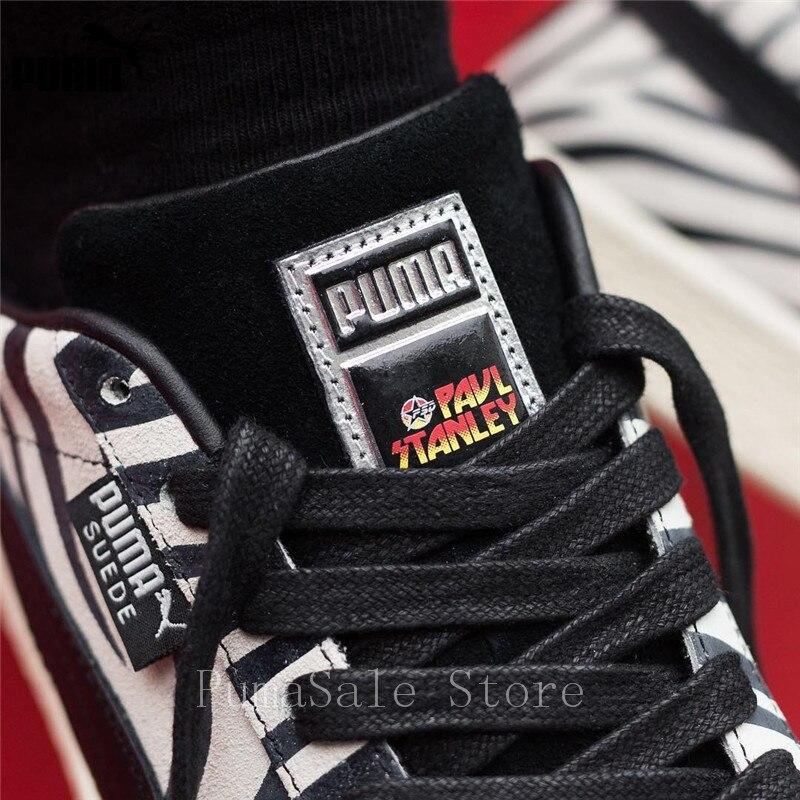brand new af174 7716d PUMA En Daim Classique X Paul Stanley Femmes Sneakers 36628801 Low Top  Chaussures De Badminton Femmes 50th Anniversaire Sport Chaussures Taille 36  40 dans ...