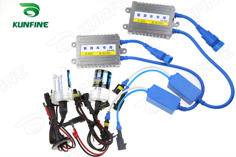 24V/55W Xenon Truck Headlight 9005/HB3/H10 HID Conversion xenon Kit Car HID light with Slim AC ballast For Lorry Drop Shipping free shipping 100w 9005 h10 hb3 ac hid conversion kit 4300k 6000k 8000k 10000k 12000k car headlight light xenon super bright