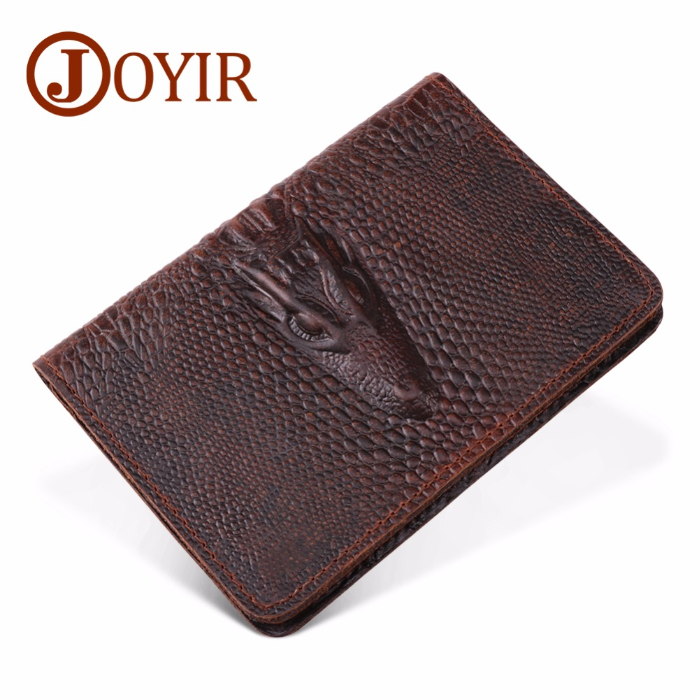 777ea0f3d39e JOYIR Men Passport Cover Genuine Leather Rfid Passport Holder Travel Wallet  Alligator Credit Card Holder Porte Carte Business