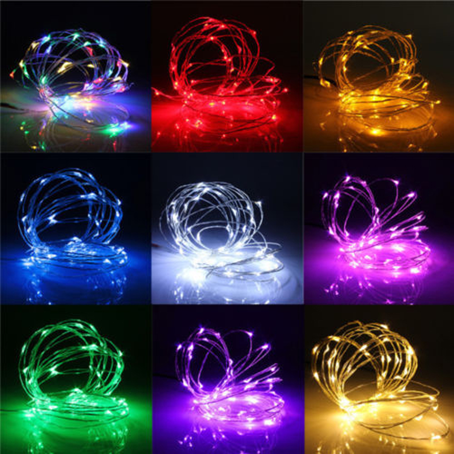 Colorful String Lights : 10M 100 LED AA Battery LED Copper Wire String Colorful Tiny String Fairy Light for Christmas ...