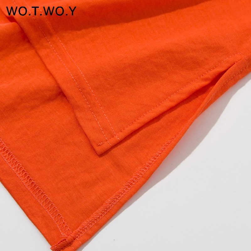 WOTWOY 9 camisetas coloridas con capucha de mujer 2019 algodón de verano básico Casual suelta de manga corta Tops mujer blanco más tamaño sudaderas con capucha