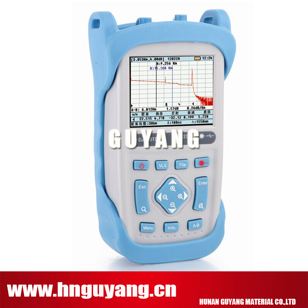 DHL free shipping GUYANG GY5600b handheld OTDR 120km 28/26dB 1310/1550nm Optical Time Domain Reflectometer with VFL