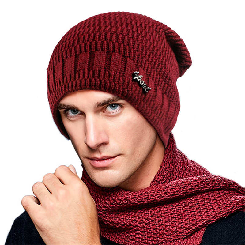 Male Wool Cashmere Hat Men Winter Hat Knit   Skullies     Beanies   Hats Male Warm Lining Cap Thicken Wool Hat   Skullies     Beanies   B-9375