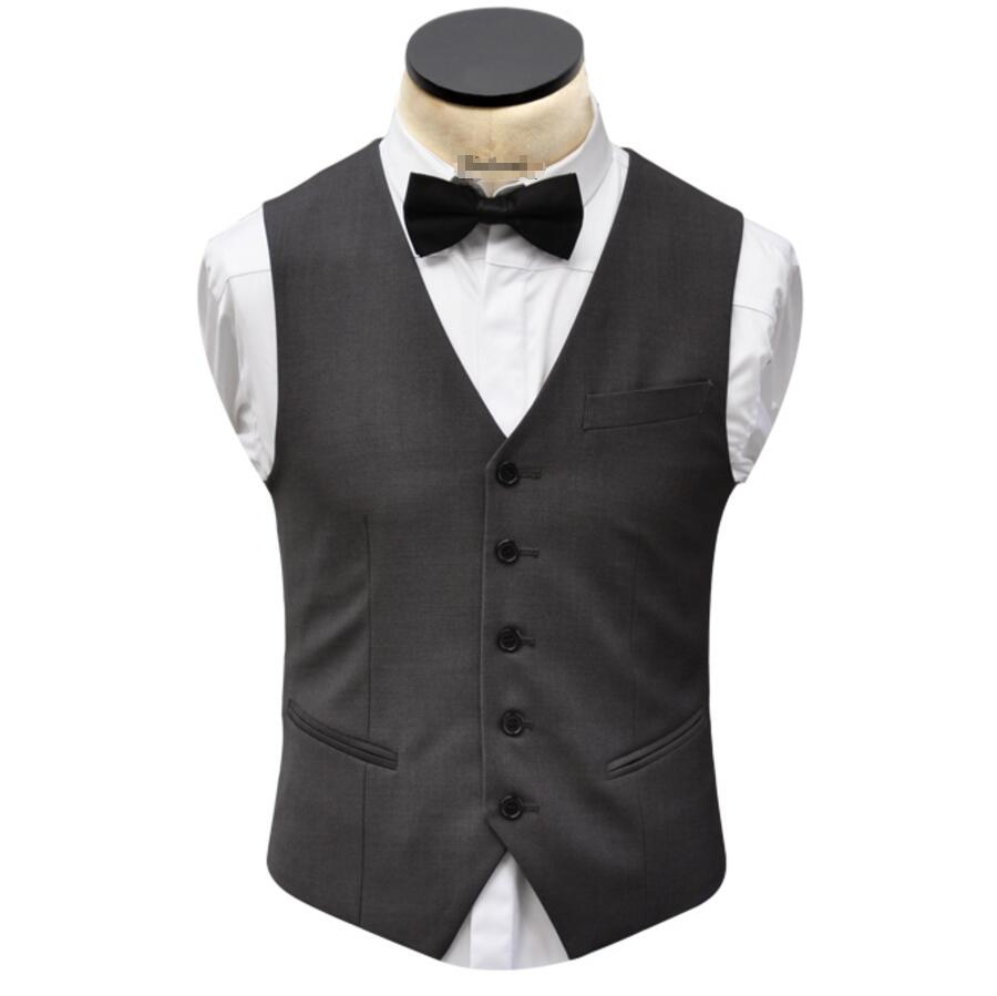 More formal man waistcoat high quality wedding the groom's best man suit vest men leisure waistcoat classic