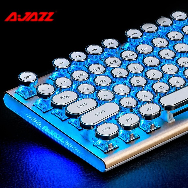 4f5380aa5d0 Ajazz AK40 87 Key USB Wired Backlit Mechanical Gaming Keyboard With Variety  Of Light Effects Black,Blue,Brown Axis