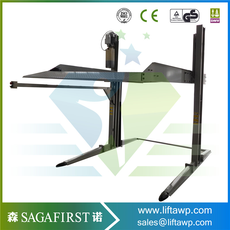 Hydraulic Smart Good Quality Two 2 Post Home Car Lift  Hot Sales Cheaper Price