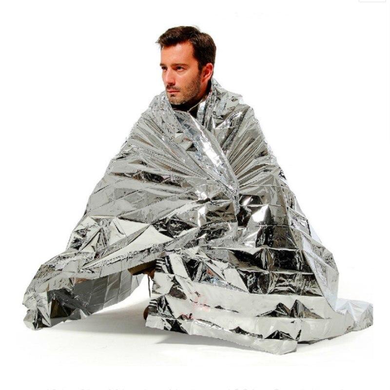 5pcs/lot 1.3x2.1m 1.6x2.1m Outdoor Waterproof Heat Preserve Emergency Blanket Survival Rescue Blanket First Aid Military Blanket