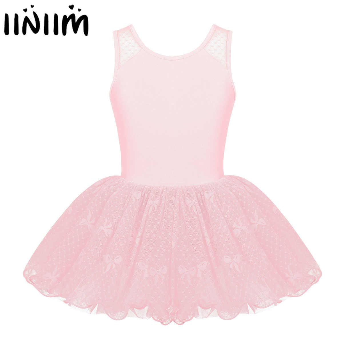 Iiniim/Детские Балетные балетные пачки с цветочным принтом для девочек Одежда для гимнастики и танцев танцевальный купальник, костюмы, платье