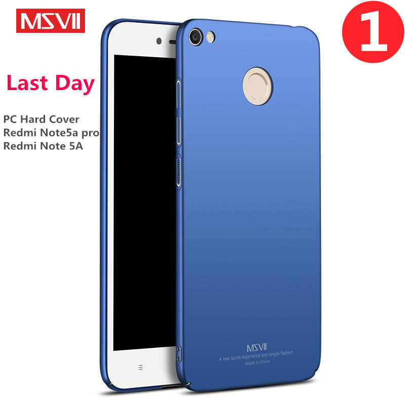 MSVII Brand For Xiaomi Redmi Note 5A Pro Case Plastic Material Hard Cover Note5a Prime Mobile Phone Cases Protector Accessory