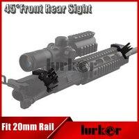 ציד טקטי AR15 Airsoft קדמי ואחורי flip up 45 אופסט Picatinny גיבוי תואר ראפיד מעבר ברזל Sight Fit 20 מ