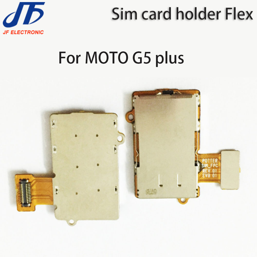 10pcs lot Replacement For MOTO G5 Plus Sim Card Socket Holder Slot Tray Connector Board Flex