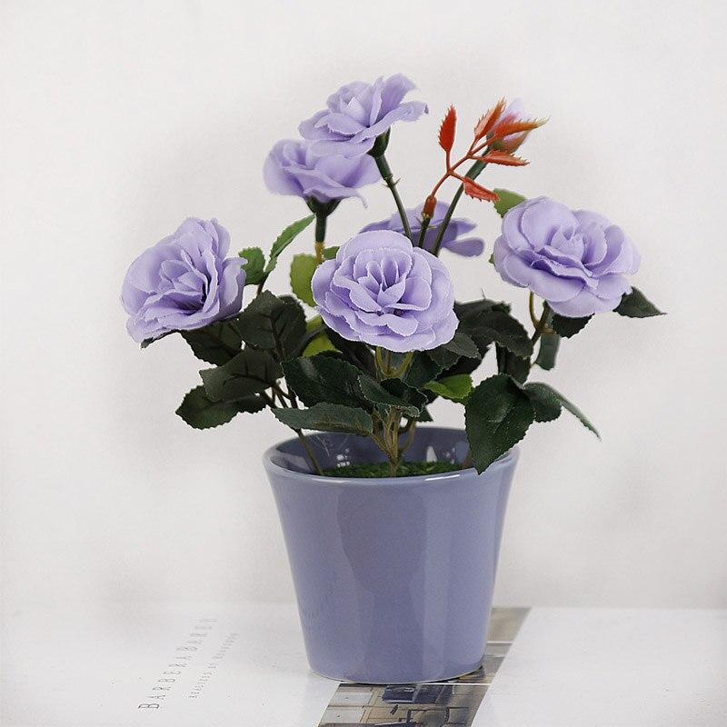 1PC ხელოვნური ყვავილები Bonsai - დღესასწაულები და წვეულება - ფოტო 6