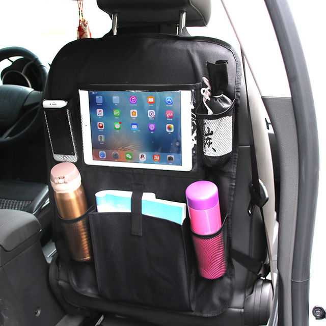 ODOMY Car Seat Back Bag Kick Mat Storage Pad Organizer Cover Stowing Tidying Interior Accessories Child Kid Seat Protector Hang