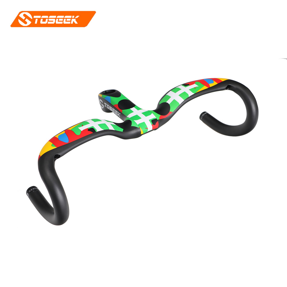 2017 new style Toseek  full carbon fiber road bike handlebar bicycle handlebar 31.8*400/420/440mm  Multicolored color matt 2017 new style toseek full carbon fiber road bike handlebar bicycle handlebar 31 8 400 420 440mm multicolored color matt