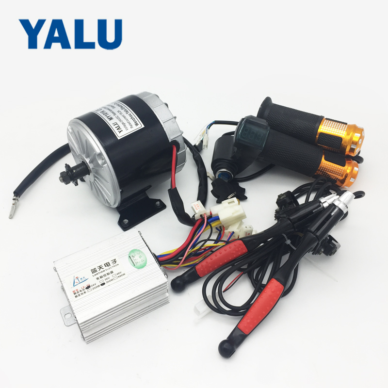 24V 350W Electric Bike DC Motor MY1016 Electric Bicycle Conversion Kit With Scooter Digital Throttle Battery Indicator Ebike Kit