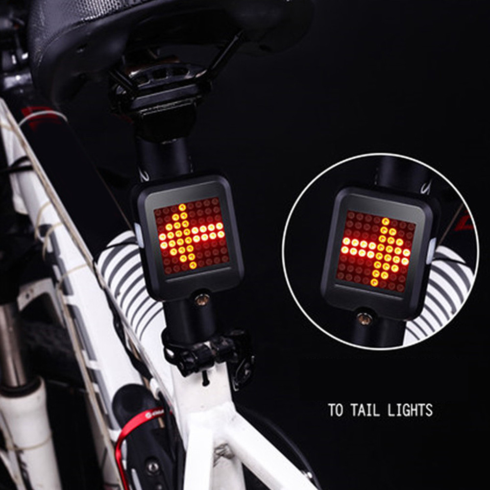Bicycle Auto Light Indicator Direction Rear Light Safety Warning Light
