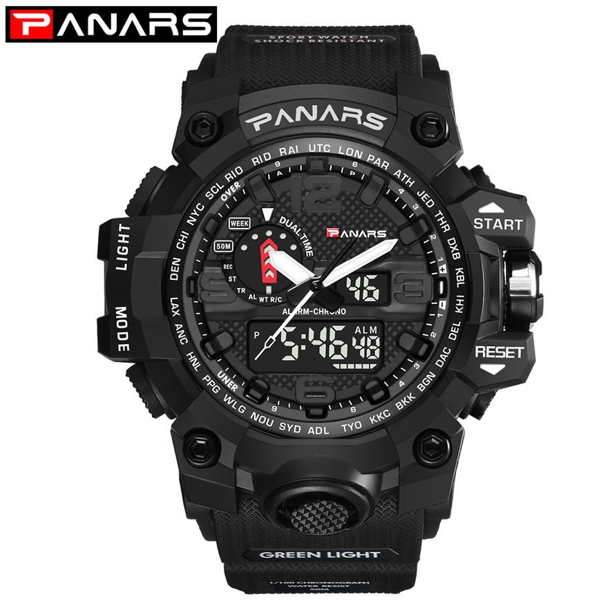 PANARS Men Outdoor Sport Watch Waterproof Digital LED G Male Shock Military Electronic Wrist Watches relogio masculino A40 alike relogio masculino waterproof outdoor sports g style shock watches men quartz hours digital watch military led wrist watch
