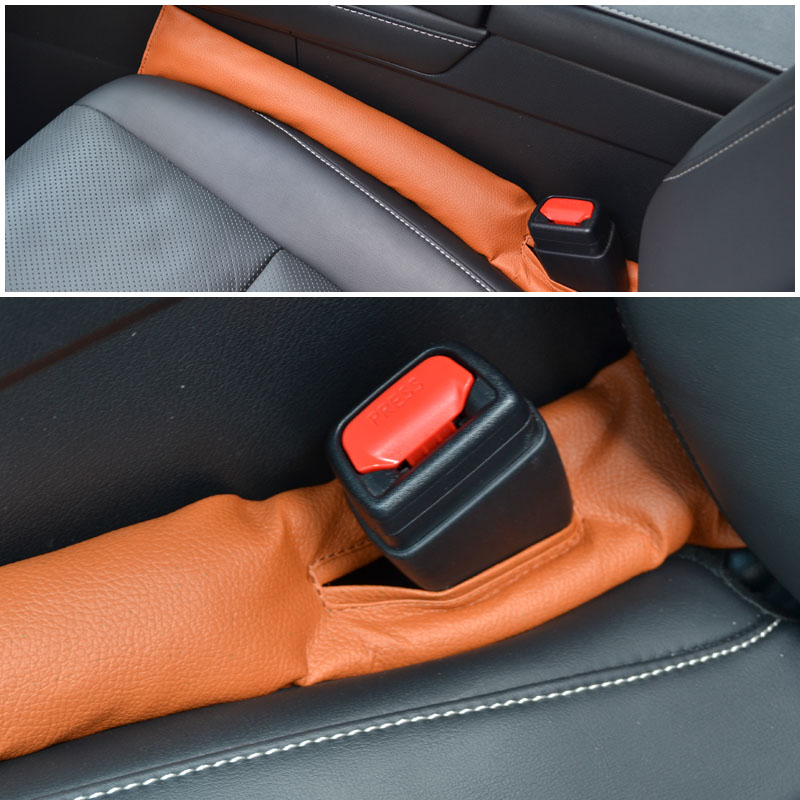 for Toyota Highlander Car Seat Gap Filler Pad PU Leather Crevice Gap Stopper Protector Cushion Filler Slot Plug Prevent Fall 2Pcs Red