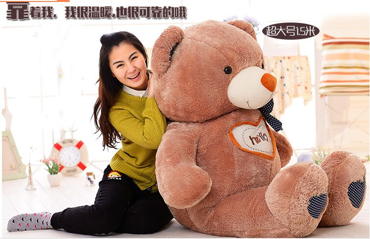 ФОТО huge toy , hello bear love teddy bear plush toy hugging pillow birthday gift w2866