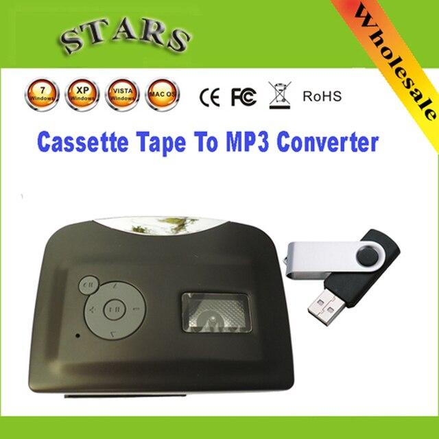 מיני Protable USB קלטת סרט מגנטי כדי mp3 USB פלאש נהג ממיר נגן עבור לכידת מקליט, סיטונאי משלוח חינם