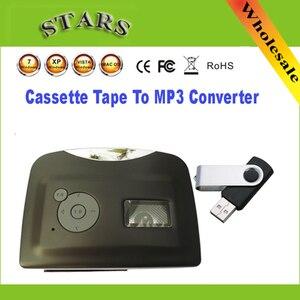 Image 1 - Мини Портативный USB кассеты магнитная лента для mp3 USB Flash Driver конвертер плеер для захвата рекордер, оптовая продажа, Бесплатная доставка