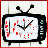 040605 Wall Clock Safe Modern Design Digital Vintage Large Led Kitchen Decorative Mirror Super Creative DIY