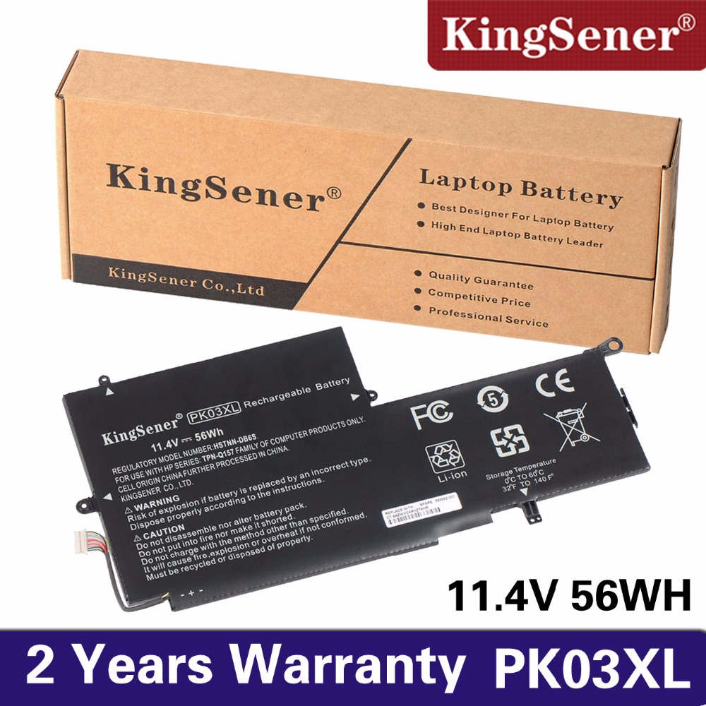 KingSener New PK03XL Battery for HP Spectre Pro X360 Spectre 13 PK03XL HSTNN-DB6S 6789116-005 11.4V 56WH Free 2 Years Warrranty ультрабук трансформер hp spectre x360 13 ae012ur 2vz72ea 2vz72ea