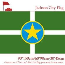 Free shipping Jackson City Flag Of Mississippi State 90*150cm 60*90cm  3x5ft Polyester 30*45cm Car