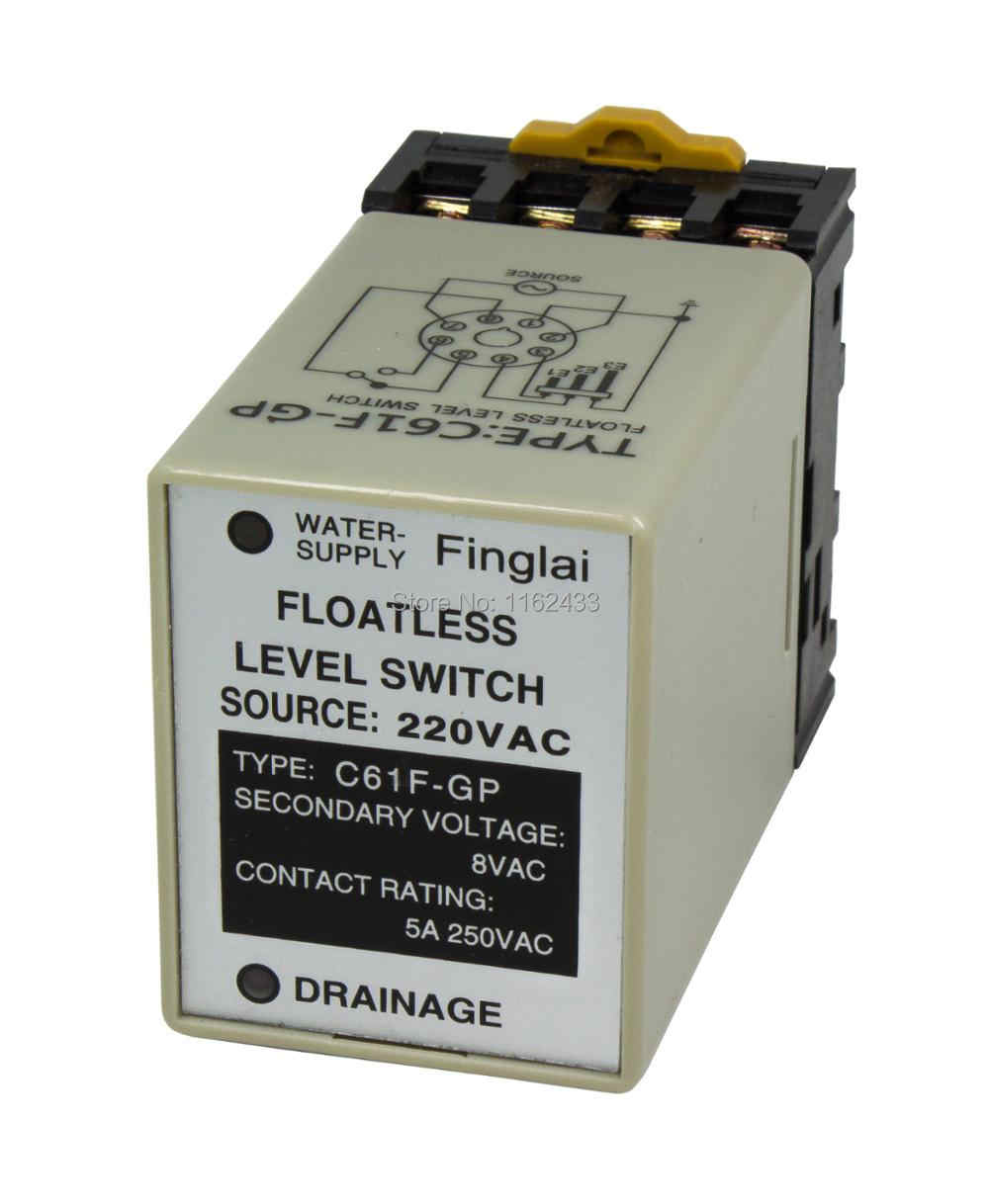 Detail Feedback Questions About C61f Gp 220vac Floatless Level Water Controller Ac 220v Switch Relay With Socket Base